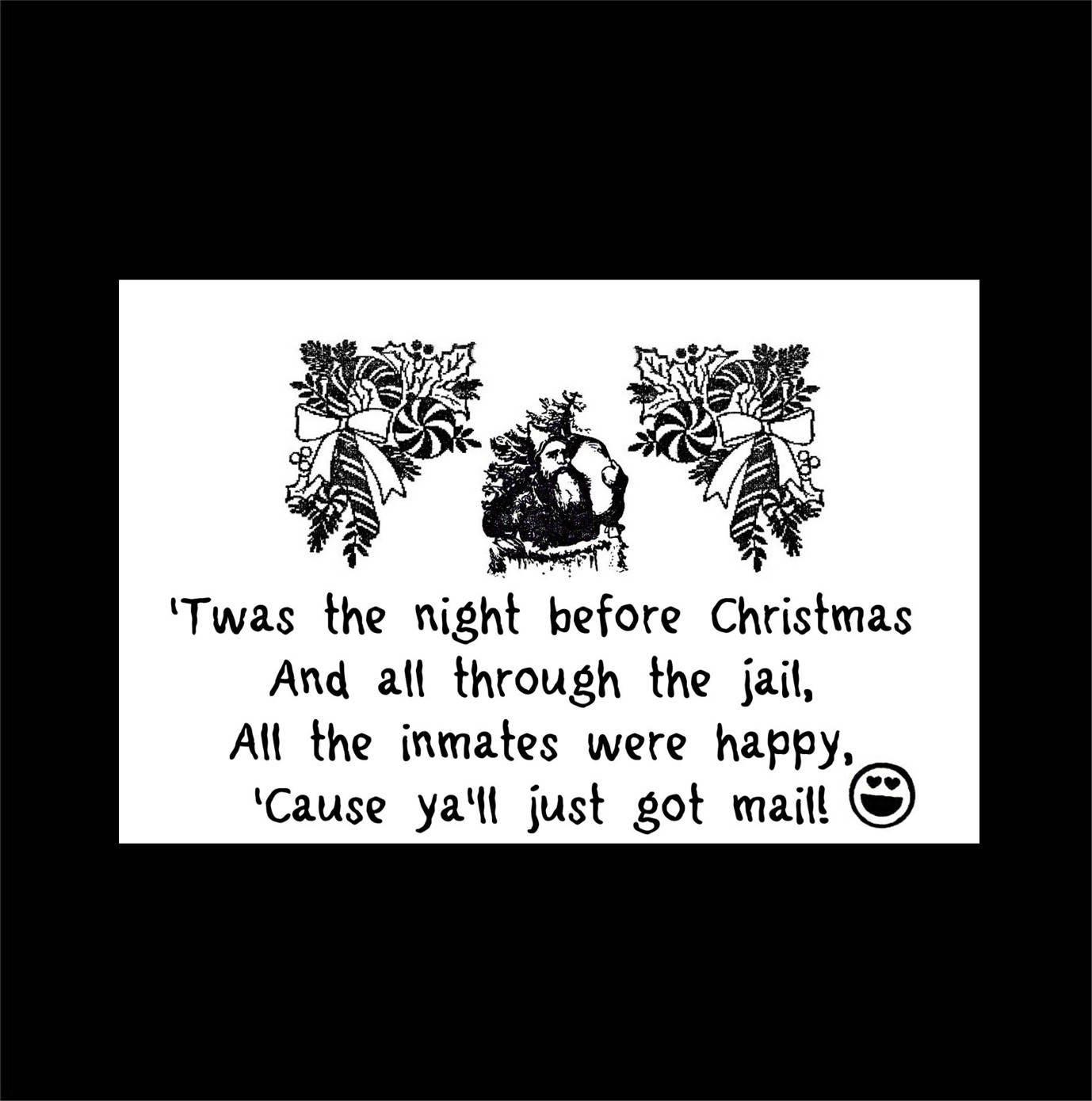 Inmate Christmas Prison Christmas Prison Greeting Card Etsy
