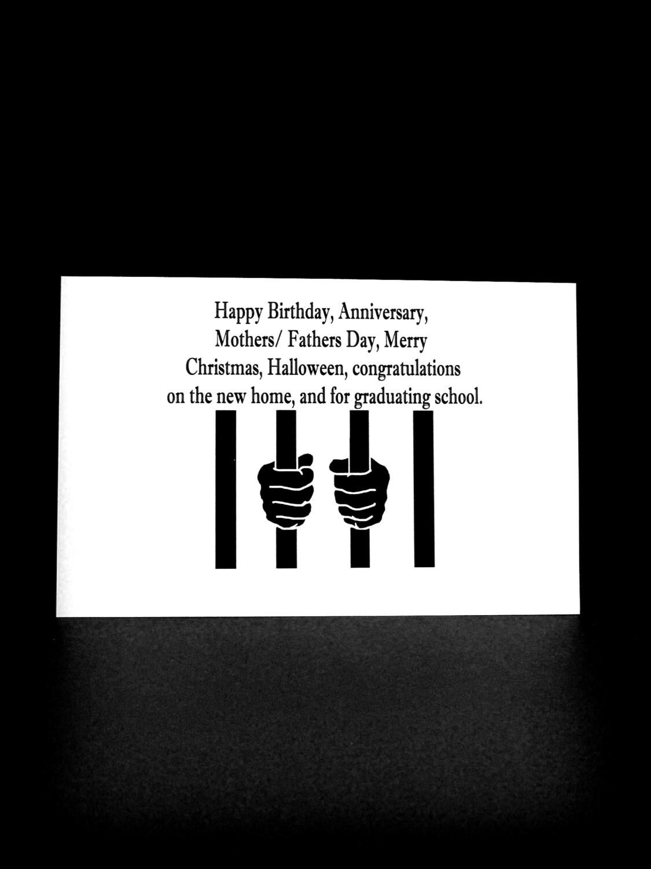 Funny Prison Card Prison Greeting Card Convict Card Prison Etsy