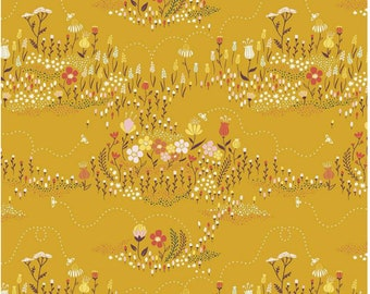Waterproof Splat Mat, yellow mustard floral bee Harmony Art Mat, kid mat, TableCloth , BPA Free, NOT oilcloth