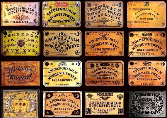 Vintage Ouija Boards , Digital Collage Sheet