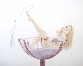 Original WINE painting - Intoxicating