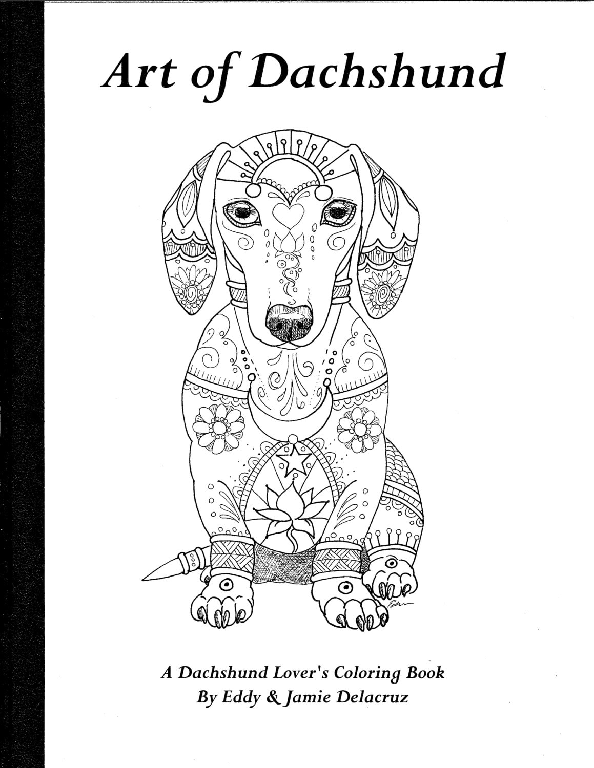 Art of Dachshund Coloring Book Volume No. 1 Physical Book | Etsy