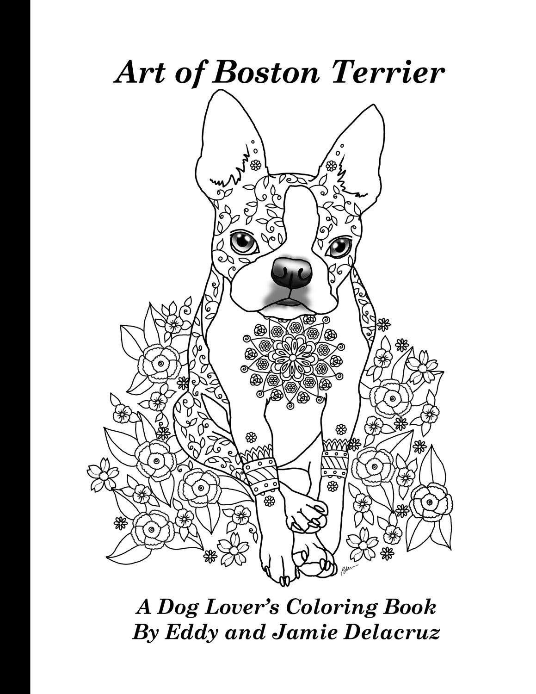 Arte de Boston Terrier para colorear volumen n º 1 física | Etsy