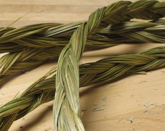 "24 "" Sweetgrass Braid Incense - meditation - grass holy weed smudging - smudge sweet grass"