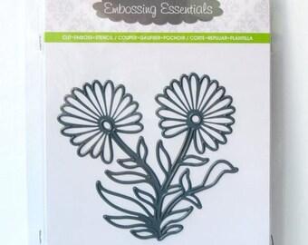 Darice Cutting Dies DAISY Flower 3-in-1 Die Cut Embossing Stencil Sizzix 2014-52