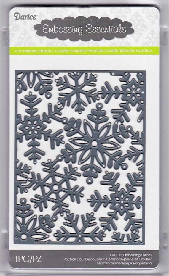 snowflake background darice craft die 3 in 1 die cut etsy rh etsy com
