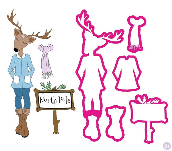 Holiday Christmas Doll Stamps /& Dies Set  Prima 912390 Twinkle Julie Nutting