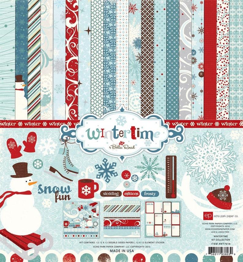 Echo Park TIS THE SEASON 12x12 Collection Kit CHRISTMAS Family Scrapbook Planner