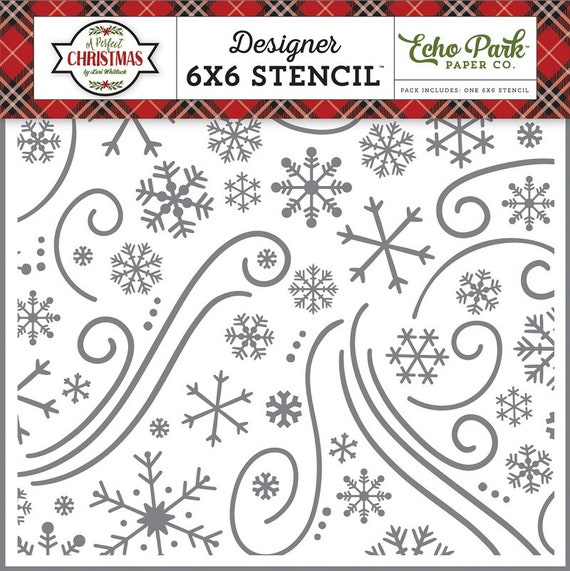 KNITTED SWEATER Echo Park 6x6 Stencil A Perfect Winter Knit Stitch APW136036 pr