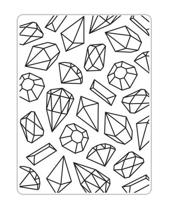 Gem Swirls Background Darice Embossing Folder