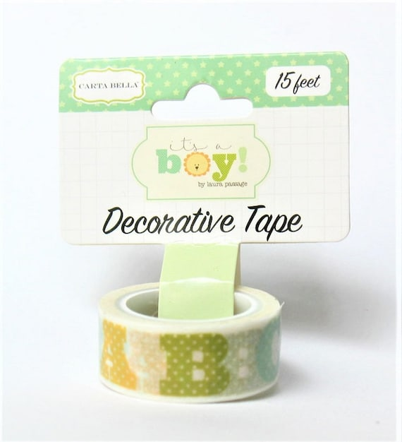 """Echo Park SNOWFLAKES Decorative Tape /""""I Love Winter/"""" 15 Feet Washi Planner Tags"""