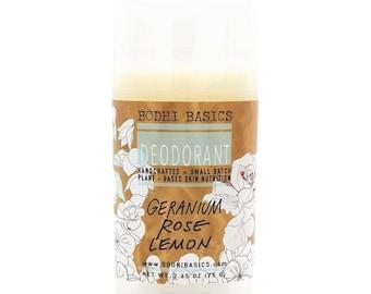 Organic Deodorant - Geranium Rose & Lemon Stick Deodorant