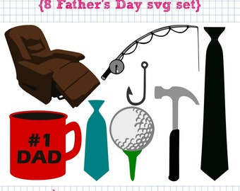 8 Father's Day SVG DXF Set