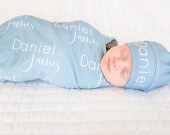 Personalized Baby Name Swaddle for Crib Lil/' Dumpling Baby Name Blanket or Nursery Custom Newborn Shower Gift Stroller