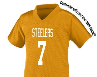 44d4449ed94 Customized GOLD (yellow) Football Jersey in 2t 3t or 4t Boys or Girls TODDLER  Sizes Personalized with Your Choice of Name and Number!
