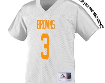 7ed77312108 Customized Rookie of the Year WHITE Football Jersey in 2 3t or 4t TODDLER  Sizes Personalized with Your Choice of Name   Number on back!