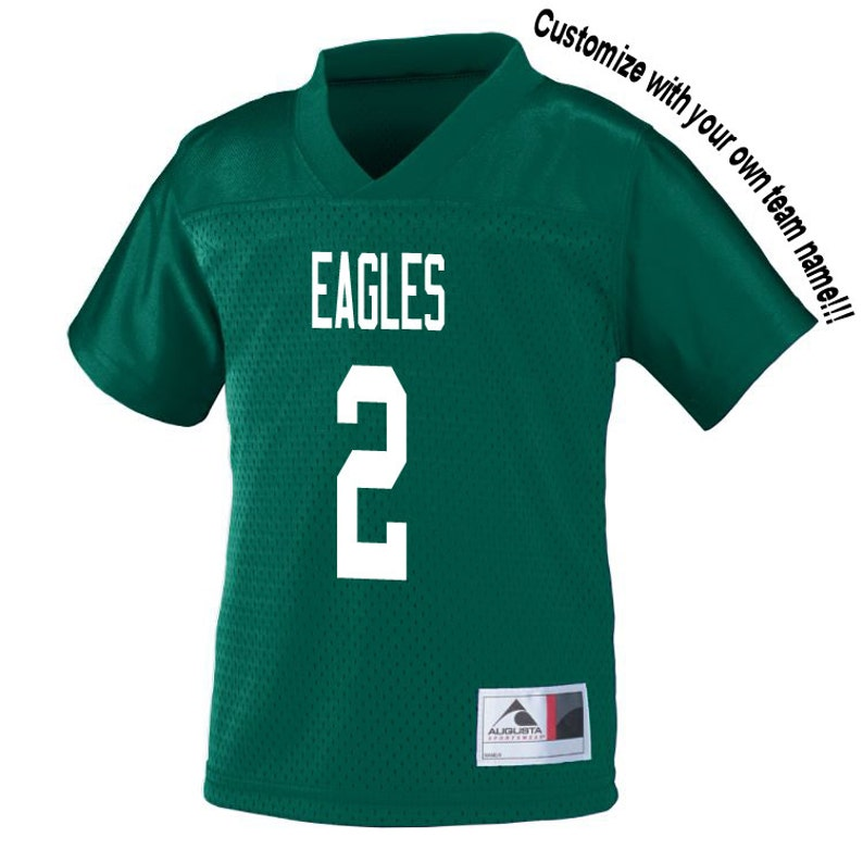 cee5fbfe24e Customized DARK GREEN Football Jersey in 2t 3t or 4t TODDLER
