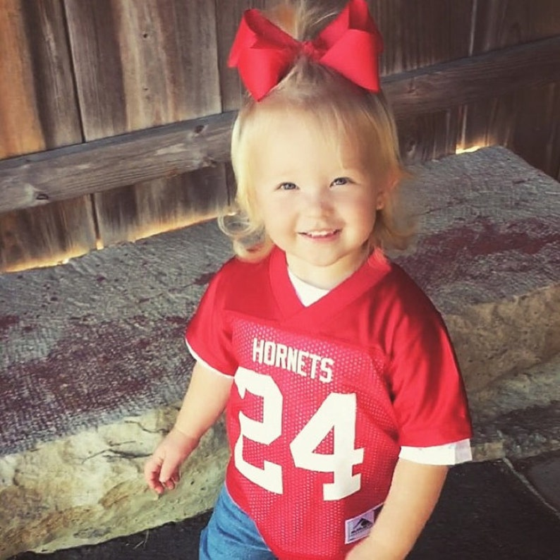 ec24ca4f4ef Customized RED Football Jersey in 2t 3t or 4t TODDLER Sizes