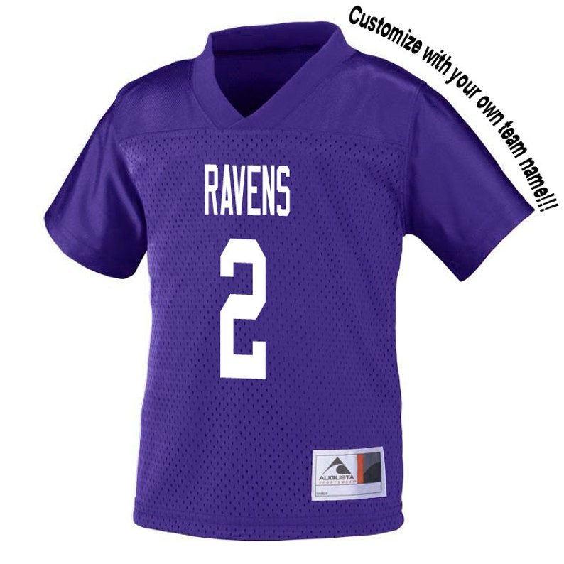 6078d7283ff Customized PURPLE Football Jersey in 2t 3t or 4t TODDLER Sizes