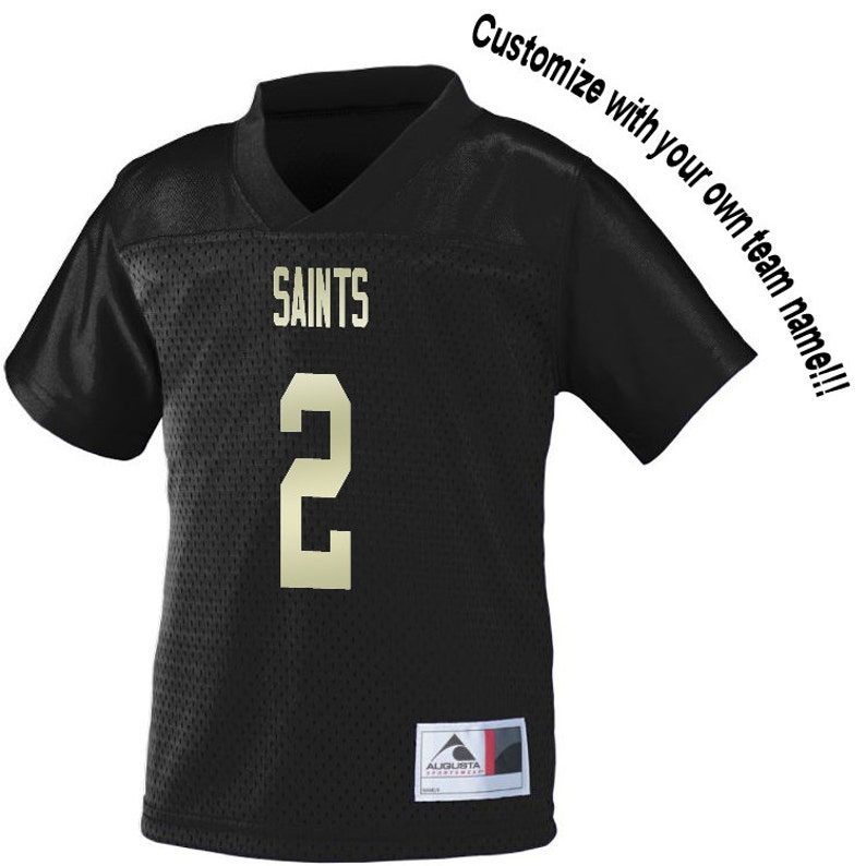 37b160fbe4a Customized BLACK Football Jersey in 2t 3t or 4t BOYS TODDLER