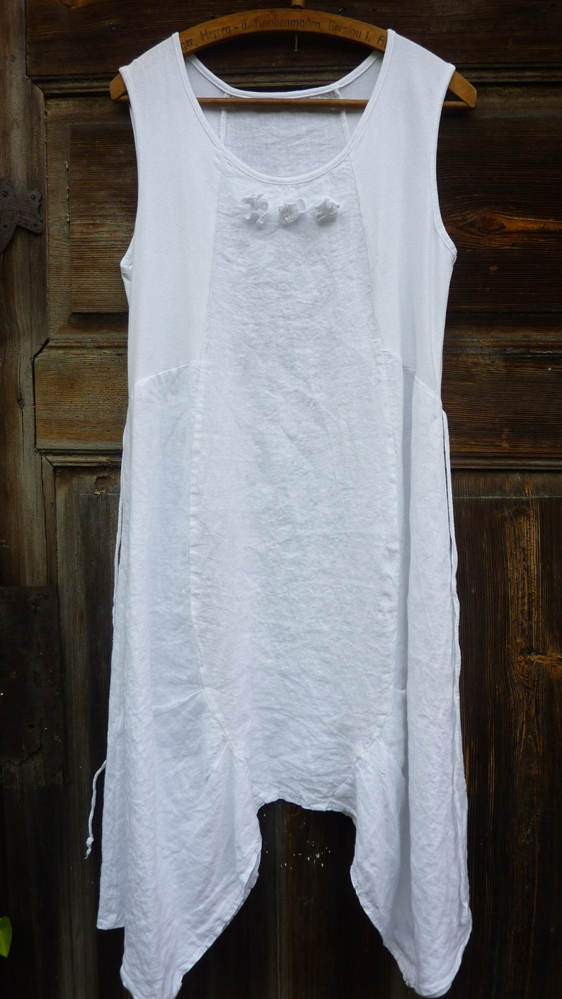 196baadc878 Womens white linen dresses .lagenlook linen clothing.M L size