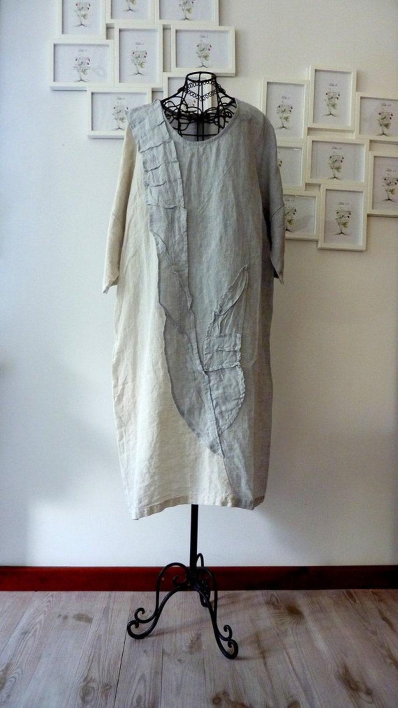 3edd46a4c7f Womens plus size clothing. asymetrical size L  XL linen