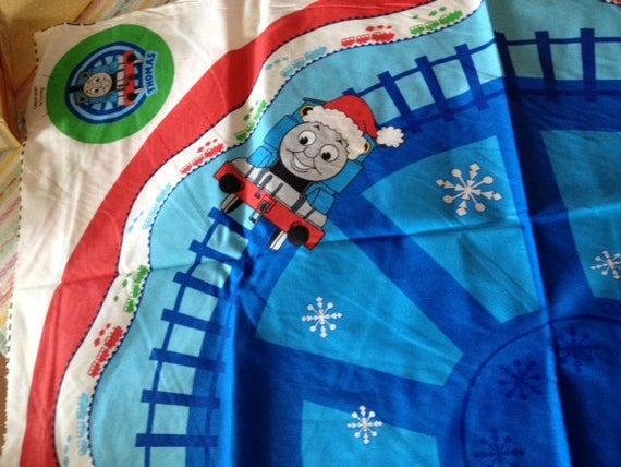 Thomas The Train Christmas Tree.Thomas Train Christmas Tree Skirt Or Giant Stocking Fabric Panel By Vip