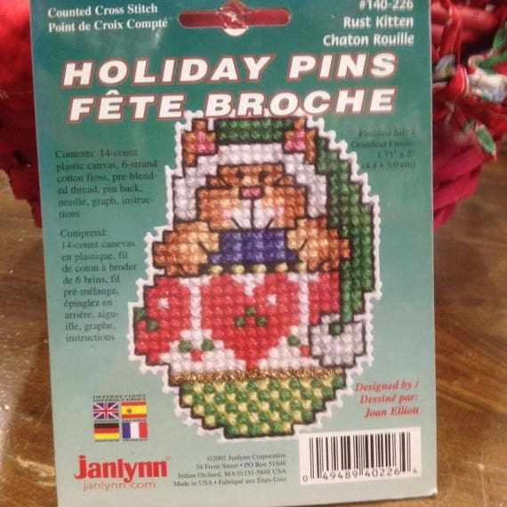 NEW Janlynn/'s Counted Cross Stitch Just-a-Chart Patterns CHOICE