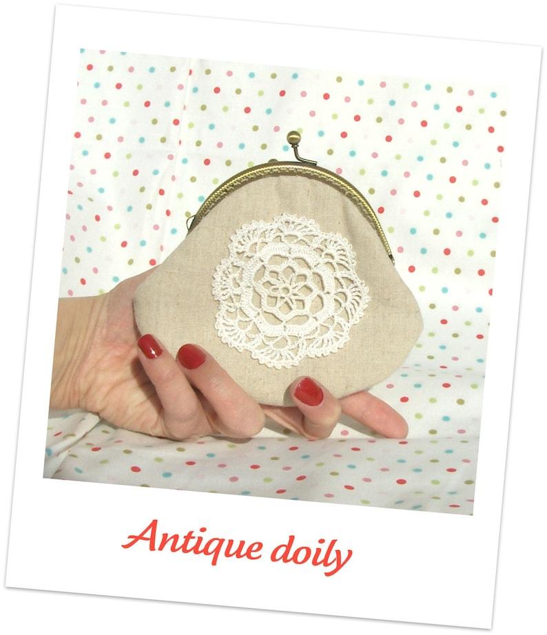 Antique doily clutch image 0