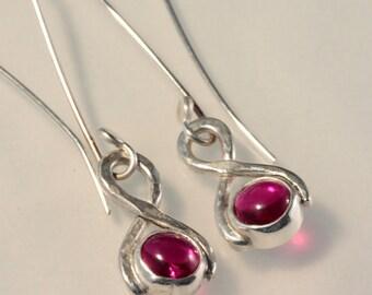 Long Ruby Earrings