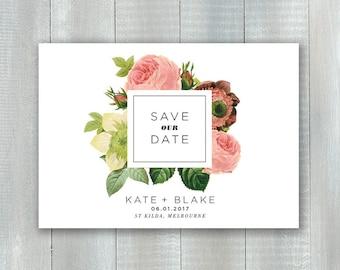 Modern Floral PDF Save The Date