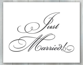Just Married Sign PDF