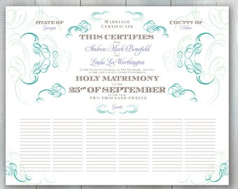 Guestbook Marriage Certificate PDF