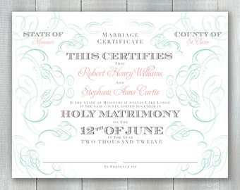Marriage Certificate PDF