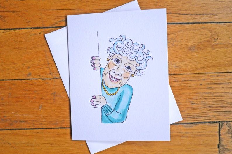 Funny Birthday Card Old Lady The Youngest Youll Ever