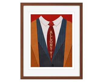 """Doctor Who print - the Tenth Doctor - """"Allons-y"""""""