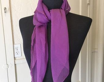 a871544126069 DEEP PURPLE Vintage Scarf, Purple Chiffon Scarf, Sheer Nylon, Large Purple  Scarf, 50's 60's Style, Rockabilly, Purple Vegan Scarf, Vegan