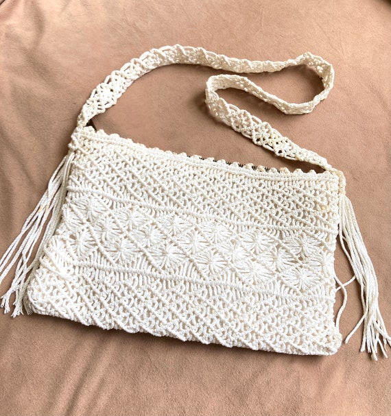 Indian Bag Gypsy Bag boho black cotton handbag Bohemian Bag macrame shoulder bag Boho handbag Macrame handbag Macrame cotton handbag