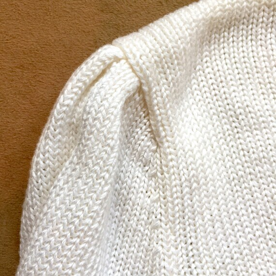 White Pullover Sweater / Soft Knit / Vegan Sweate… - image 3