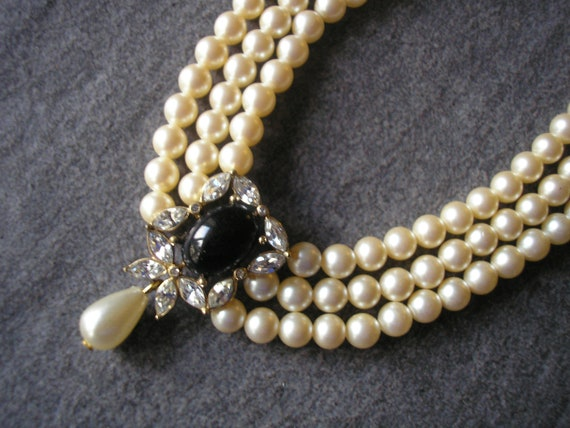 Vintage Pearl Choker, Attwood and Sawyer Jewelry,