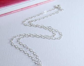 Sterling Silver Necklace, Chain Only, Delicate, Durable/Sturdy, Shorter/Longer or Replacement Chain for Necklace