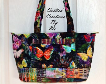 Quilted Bag NEW The KELLY BAG Quilted Purse Quilted Bow Bag Handbag Tote Bag  by Quilted Creations By Me e121eb1c24b01