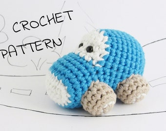 Amigurumi toy car crochet pattern pdf tutorial instant download US English