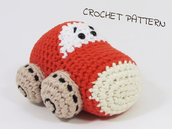 Amigurumi Mister Car Crochet Pattern Stuffed Toy Diy Tutorial Etsy