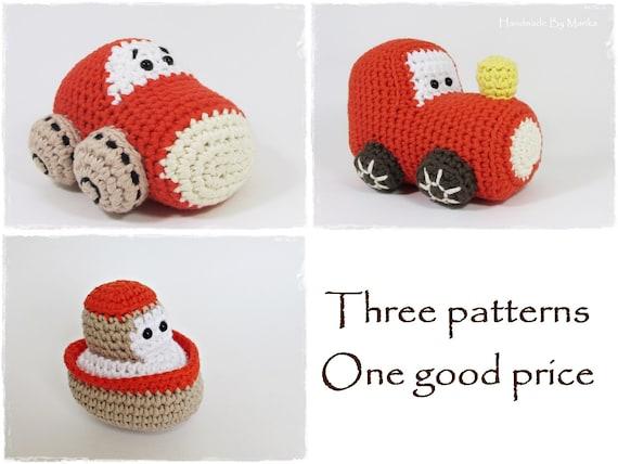 Tug Boat...PDF Pattern | Crochet boat, Crochet, Crochet patterns | 428x570
