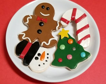 """2 Gingerbread Cookies 1 Baking Tray works for 18/"""" Dolls Food Accessories"""