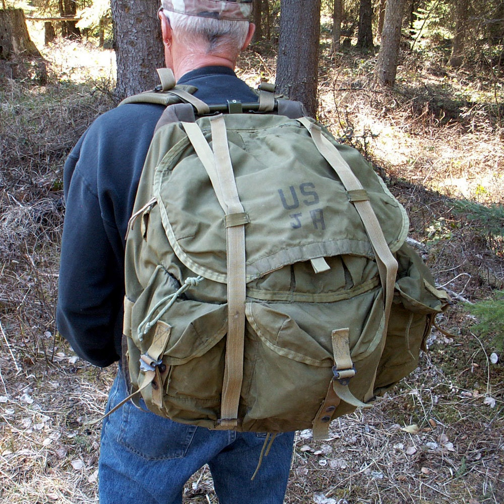 Military Backpack Large Alice Pack Army Surplus Bug out Bag   Etsy