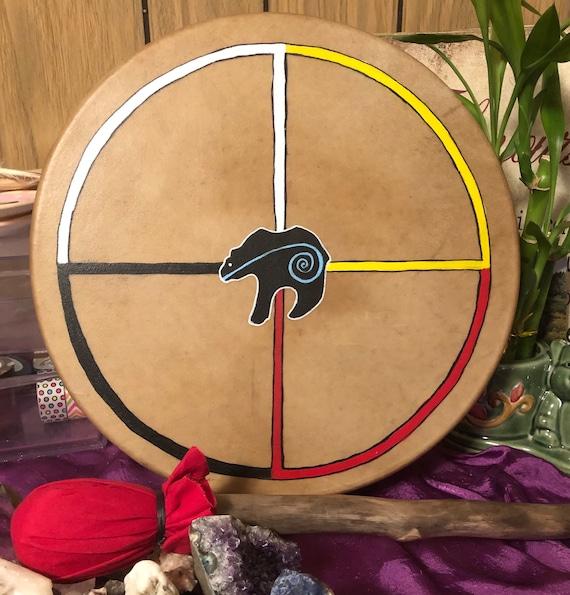 """12"""" Elk hide shaman drum - hand painted"""