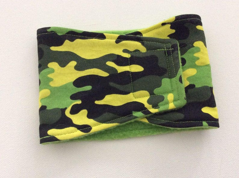 Dog Diaper - Male Dog Belly Band - Bright Camo - Available in all Sizes