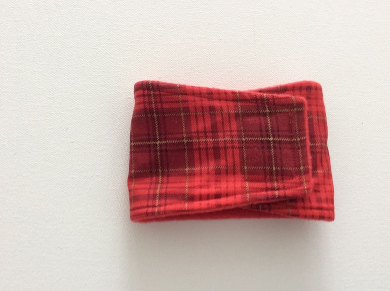 Male Dog Diaper Male Dog Belly Band READY to SHIP Small Red Plaid with Gold Stripes